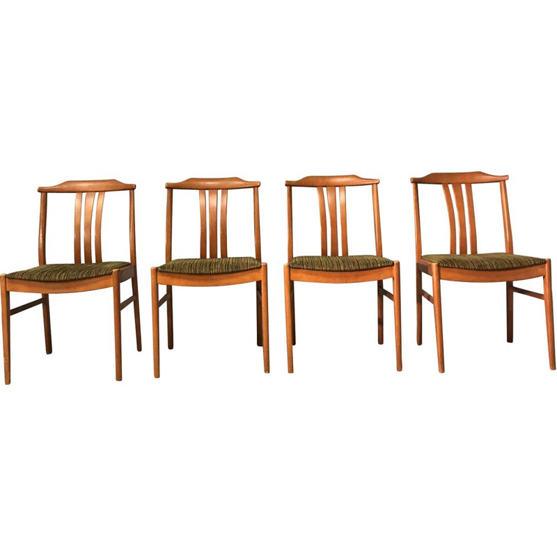 Set Of 4 vintage Chairs Sweden 1970s