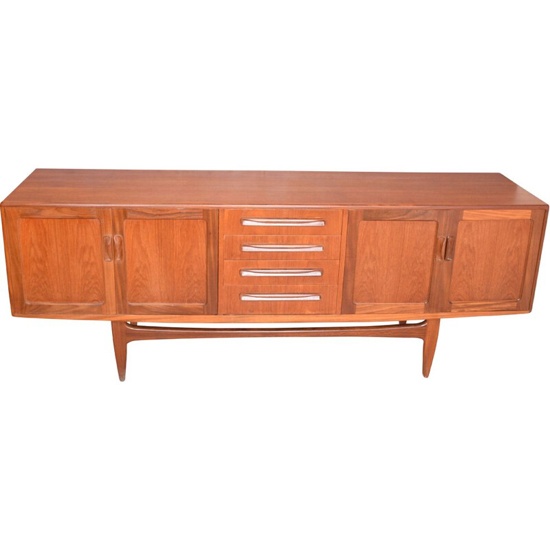 Long vintage G Plan Fresco Teak Sideboard Cabinet By Viktor Wilkins