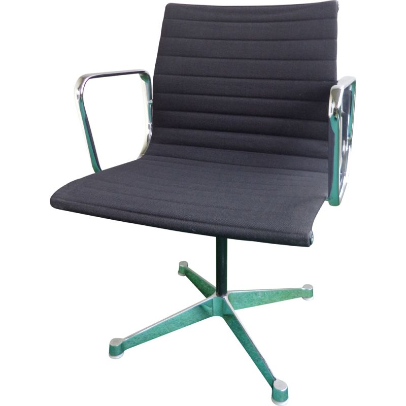 Vintage EA108 desk chair by Charles & Ray Eames ed. Herman Miller, Aluminum 1960s