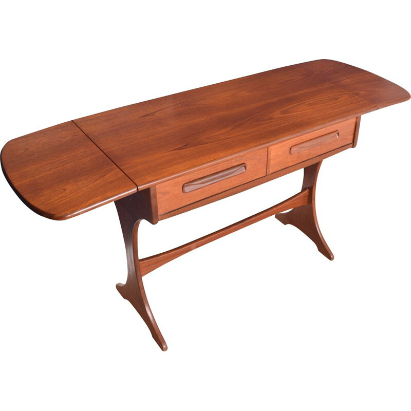 Vintage Teak G Plan Fresco Console Table By Viktor Wilkins 1960s