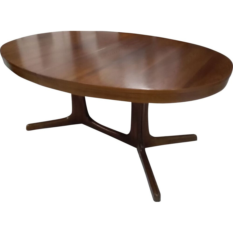 Vintage oval extensible table Baumann 1970