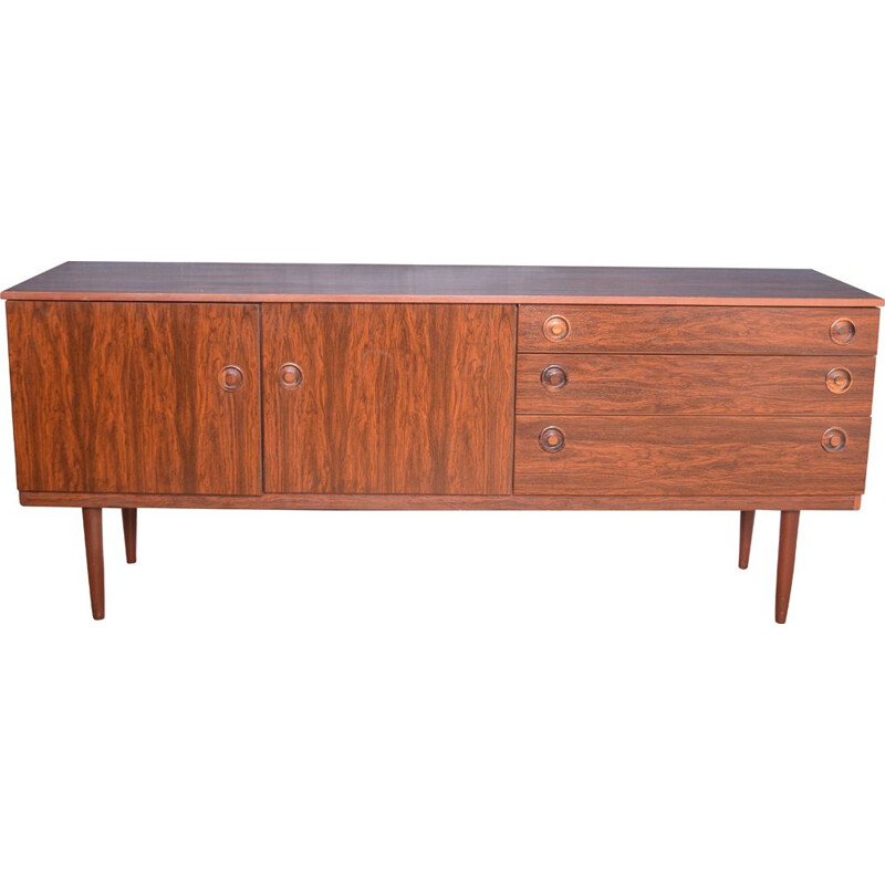 Long vintage Greaves & Thomas Sideboard Cabinet Rosewood 1970s