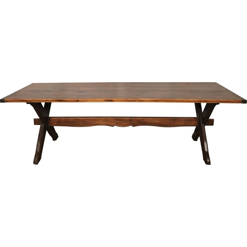 Large vintage farmhouse table Vintage country pine table 1950