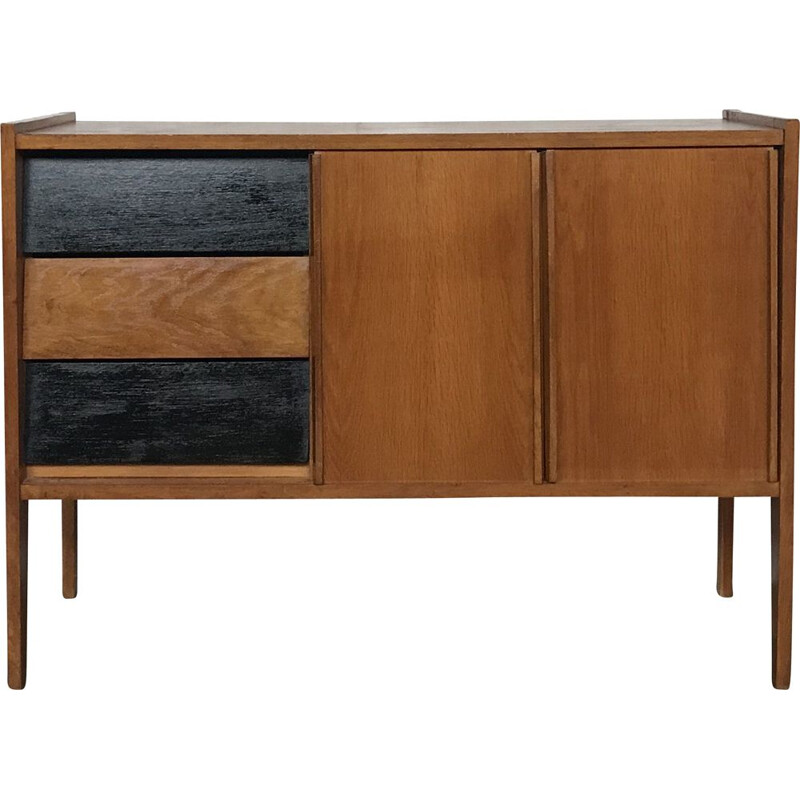 Vintage sideboard tv stand light oak scandinavian 1950