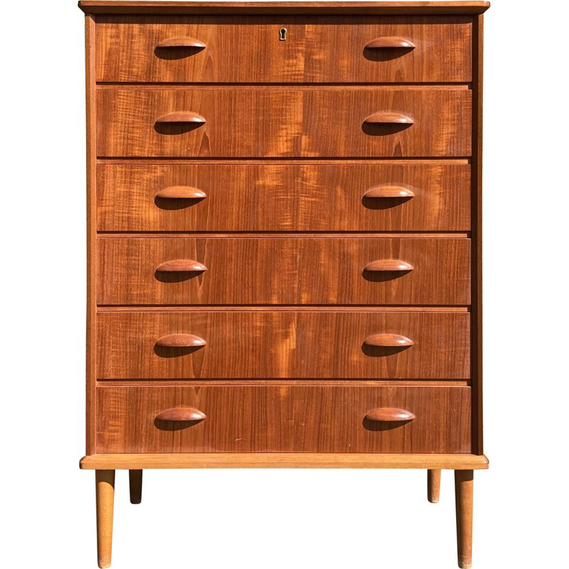 Vintage Chest of drawers in teak cabinet maker  danish 1950