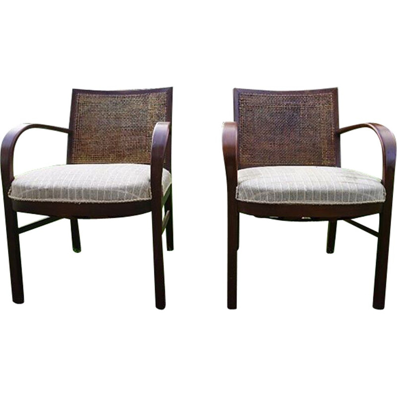 Pair of Vintage armchairs Fritz Hansen
