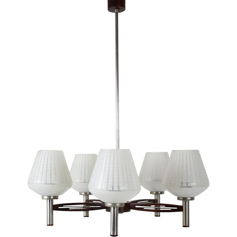 Mid-century big  chandelier German 1970s