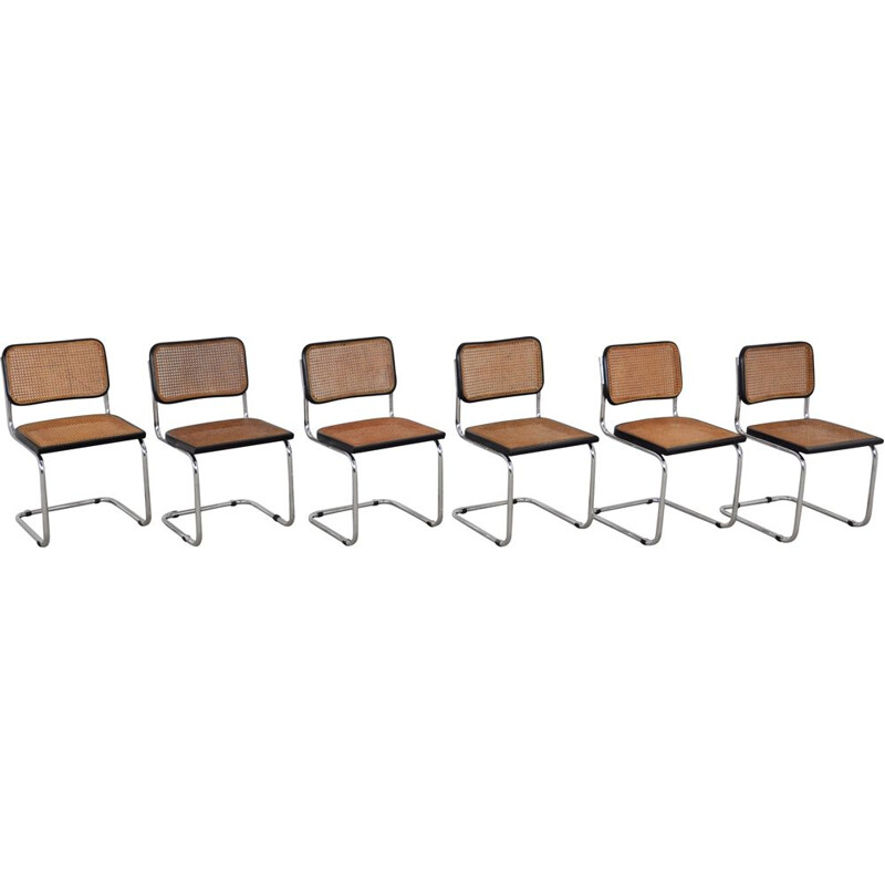 Set 6 vintage Dinning Style Chairs B32 By Marcel Breuer 1980s