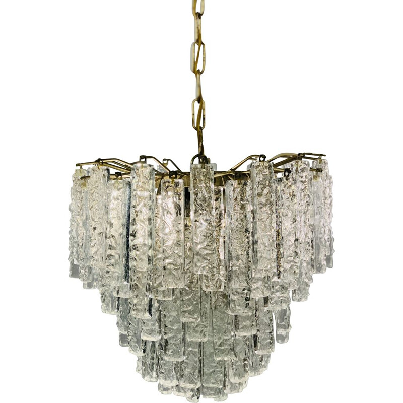 Vintage hanging lamp in Venini 1960
