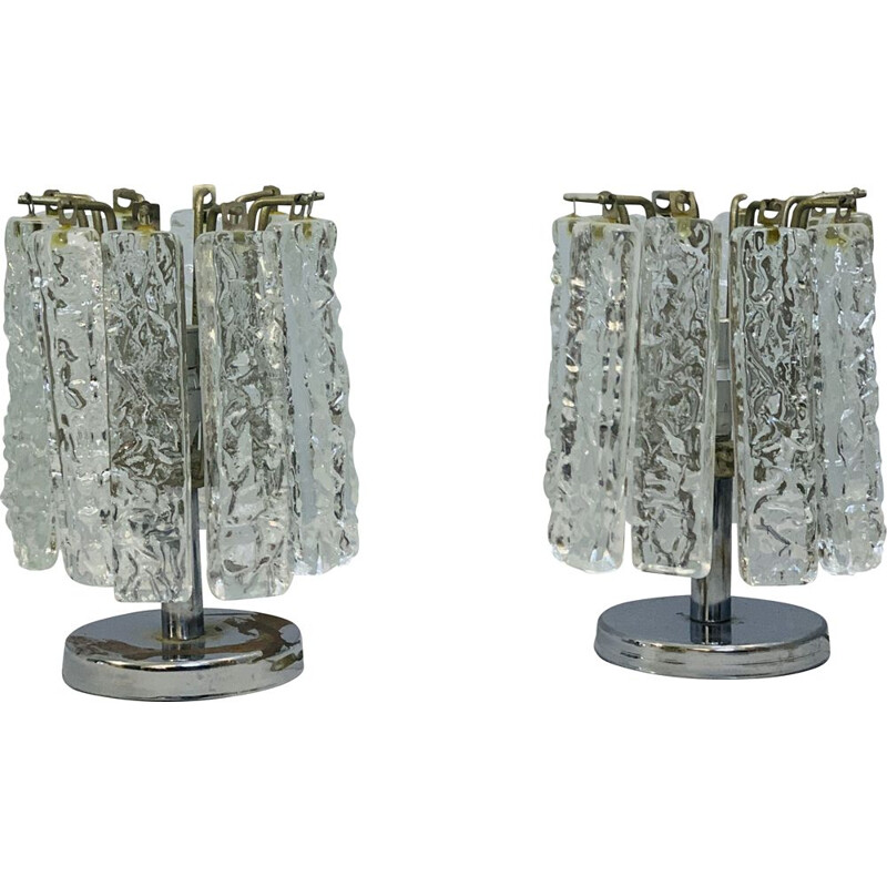 Pair of small vintage table lamps at Venini 1960