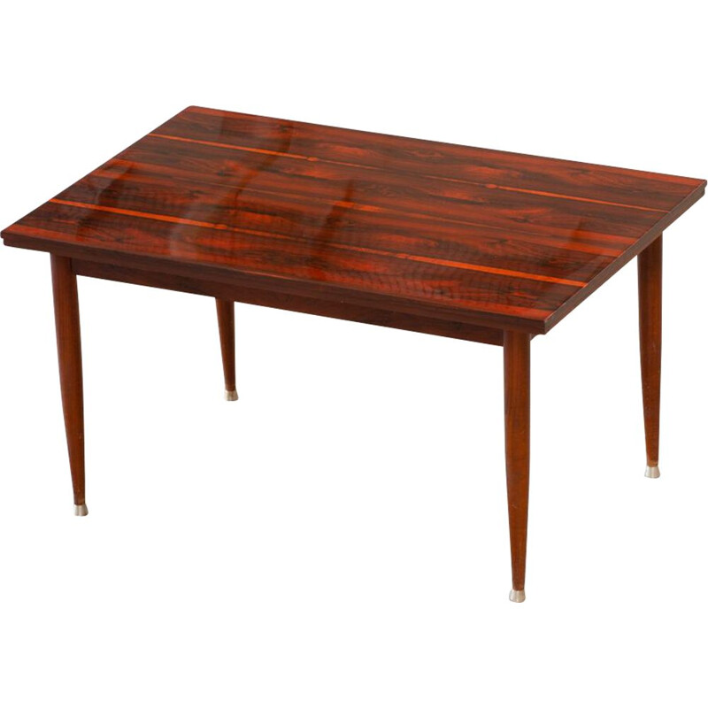 Vintage Scandinavian rosewood table with extensions