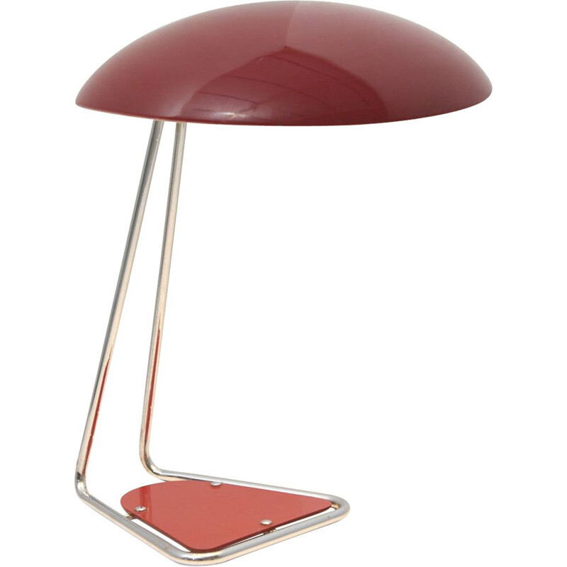 Vintage Red Desk Lamp by Kaiser Idell, Germany 1950s