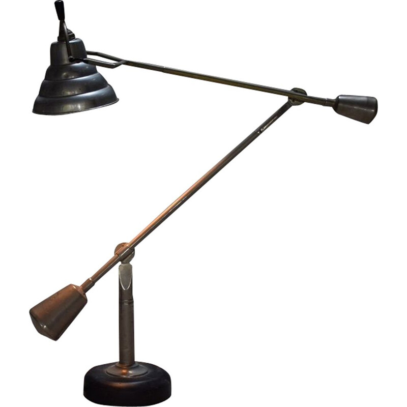 Vintage articulated lamp 2 arms by Edouard Wilfried Buquet 1930
