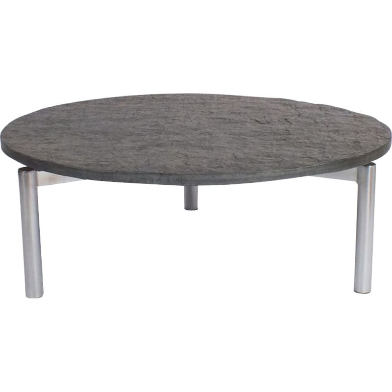 Vintage Coffee table with floating slate table top