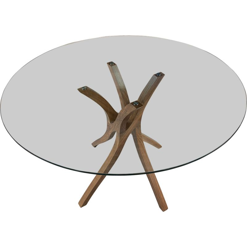 Vintage walnut table Vrille Xavier Miclet 2000