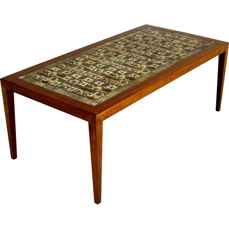Vintage coffee table Severin Hansen for Haslev Møbelfabrikk Royal Copenhagen, Denmark, 1960