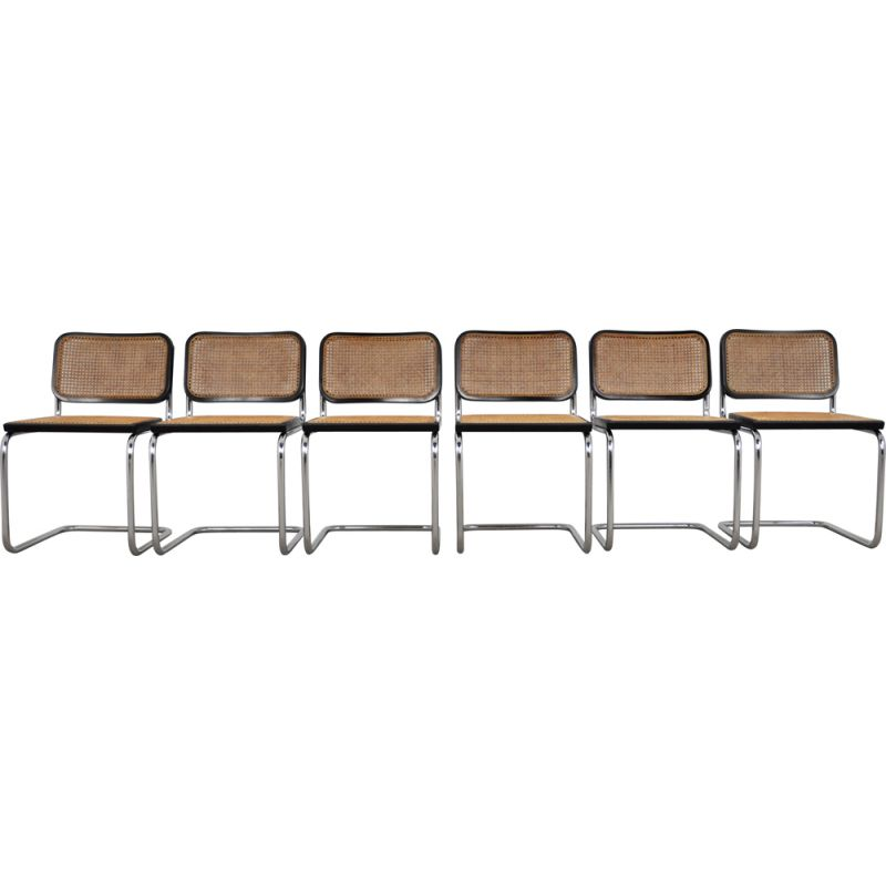 Set 6 vintage Dinning Style Chairs B32 By Marcel Breuer