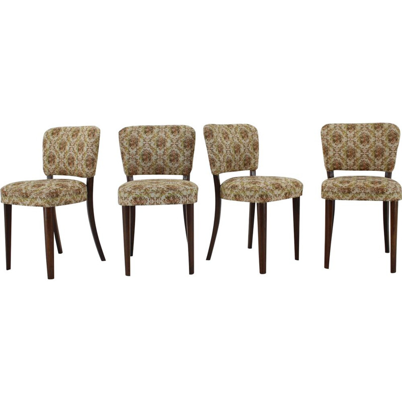 Set of 4 vintage Dining Chairs Czechoslovakia 1950s