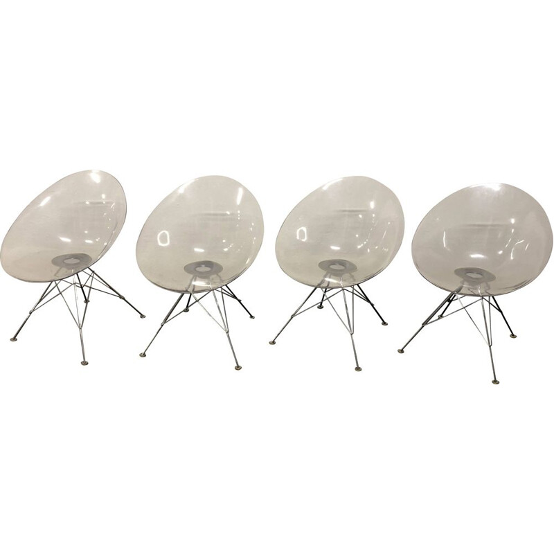 Set of 4 vintage chairs Eros