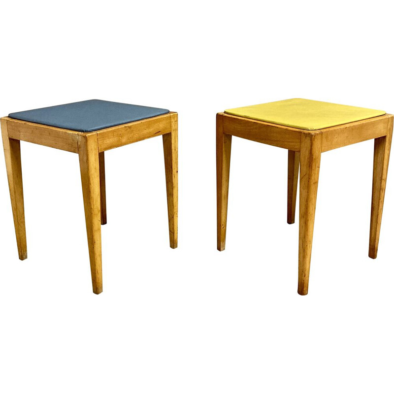 Duo of vintage stools 1960