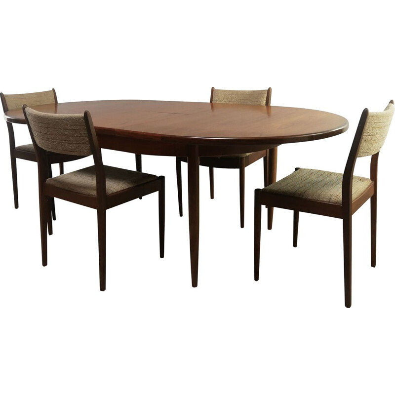 Mid century  extending dining table and chairs G Plan 1970s