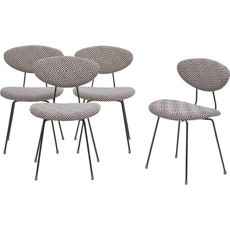 Set of 4  Mid-Century Modern dining chairs by Rudolf Wolf for Elsrijk 1950s