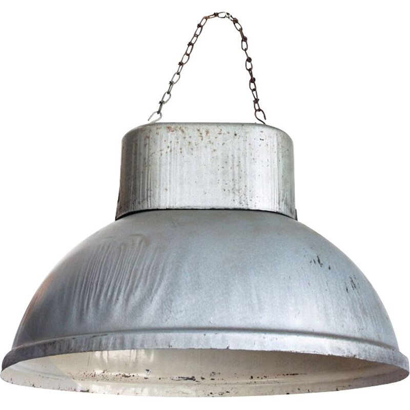 Vintage industrial ceiling lamp of iron, Poland, 1960