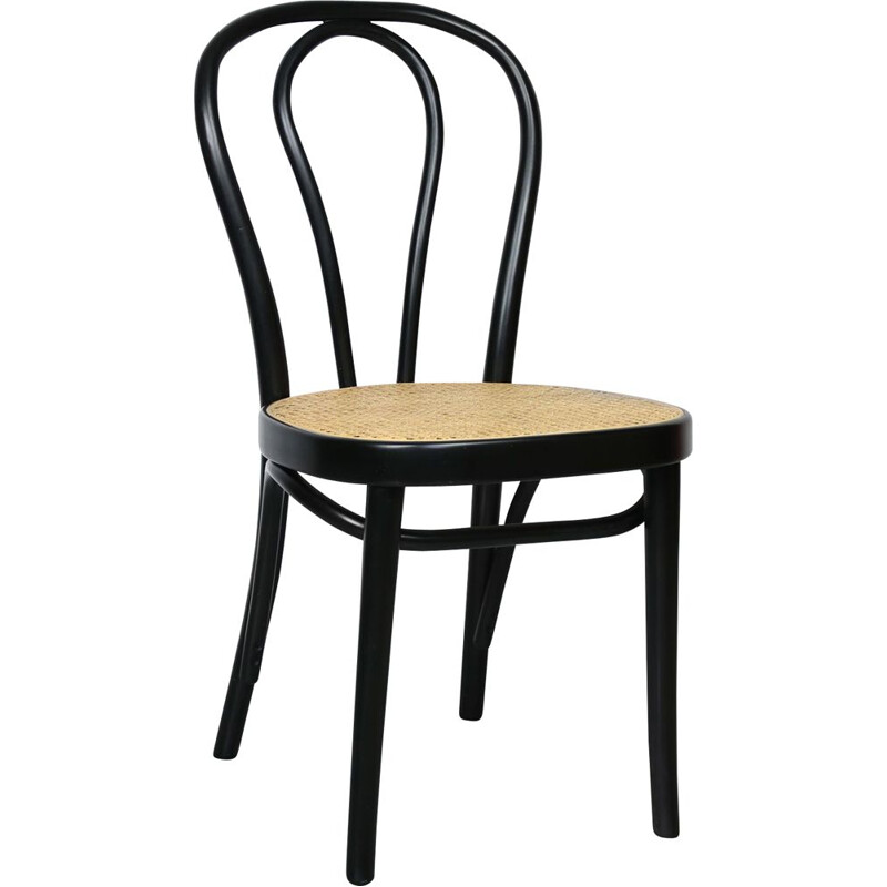 Vintage N 218 Black Chair by Michael Thonet
