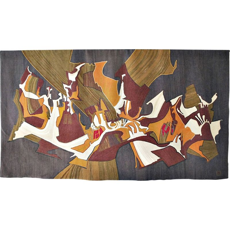 Vintage Tapestry by Claude Prevost  France 1970