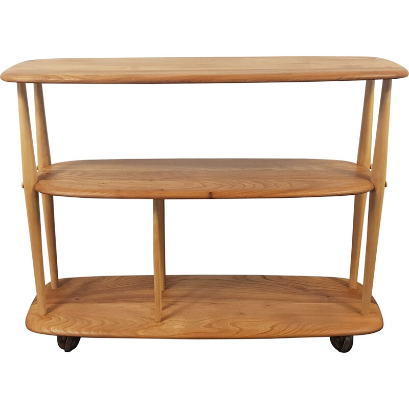 Vintage Bookcase, Ercol Trolley 1960s