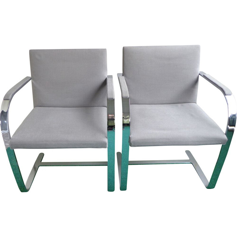 Pair of Vintage Dining Chairs by Ludwig Mies van der Rohe for Knoll Inc Knoll International 1980s
