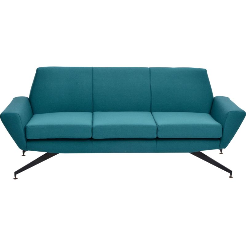 Vintage  Modern sofa with Metal base by Lenz italian