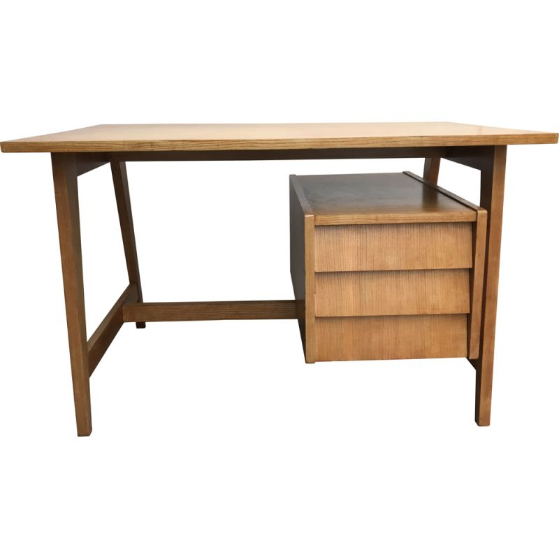 Vintage desk with  compass feet 1960's