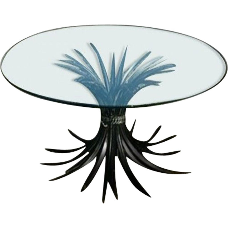 Vintage coffee table with wheat spray Coco Chanel' 1970