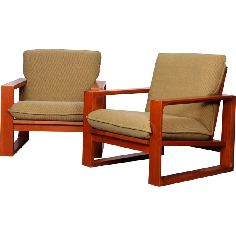 Pair of vintage armchairs by Miroslav Navratil, model Daria, 1985