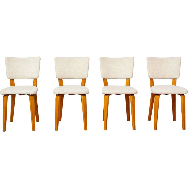 Set of 4 vintage dining chairs by Cor Alons 1950