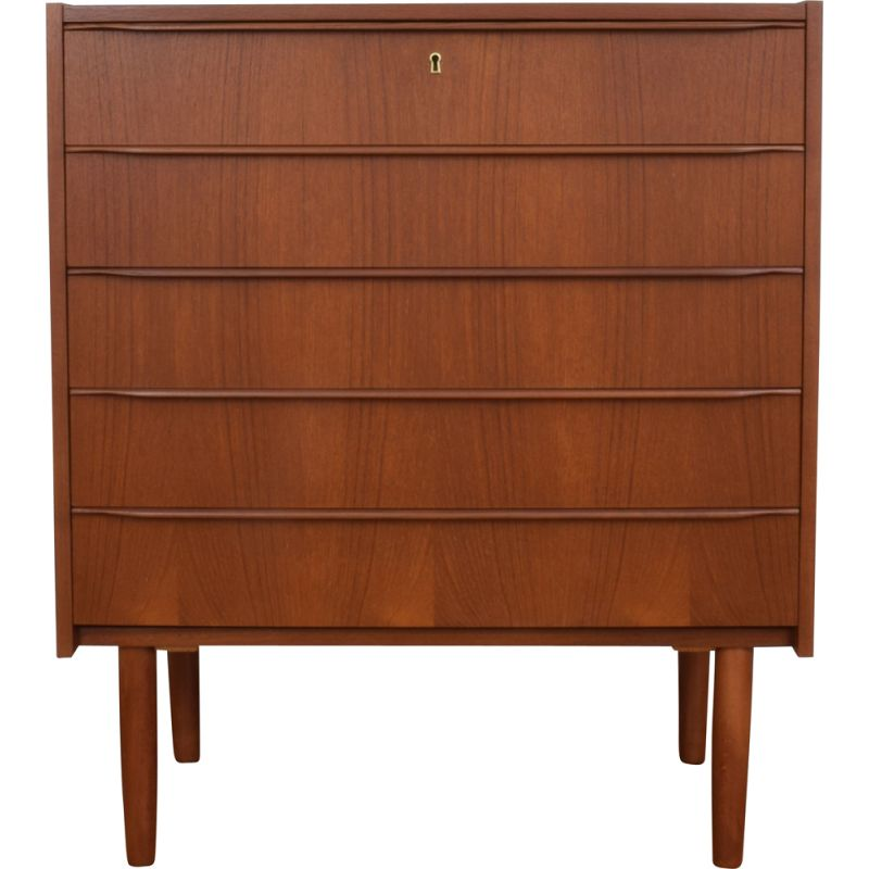 Mid-Century Teak Chest of Drawers from Royal Board Swedish 1960s