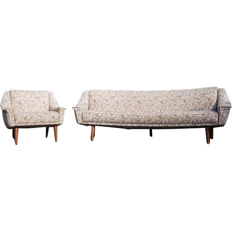 Vintage mBanana sofa and easychair by cabinetmaker danish