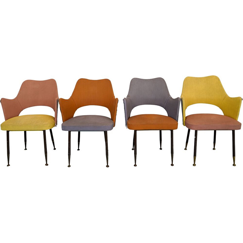Set of 4 midcentury chairs by Gastone Rinaldi for RimaItalian