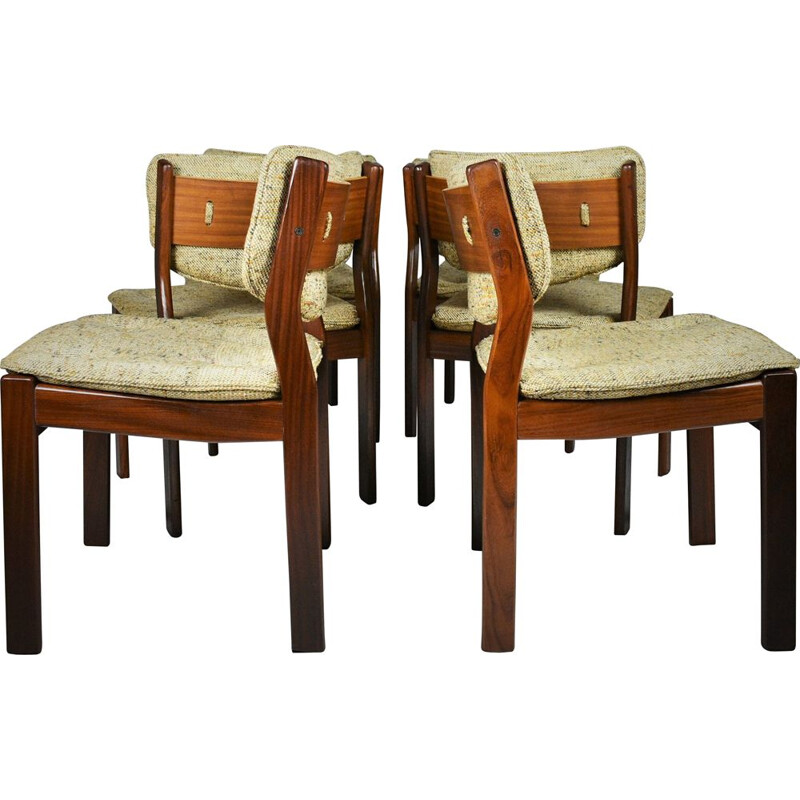 Set of 6 Mid-Century Teak Dining Chairs Scandinavian Denmark