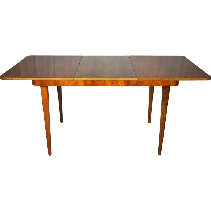 Vintage Extendable Dining Table  by Jindrich Halabala Art Deco 1950s