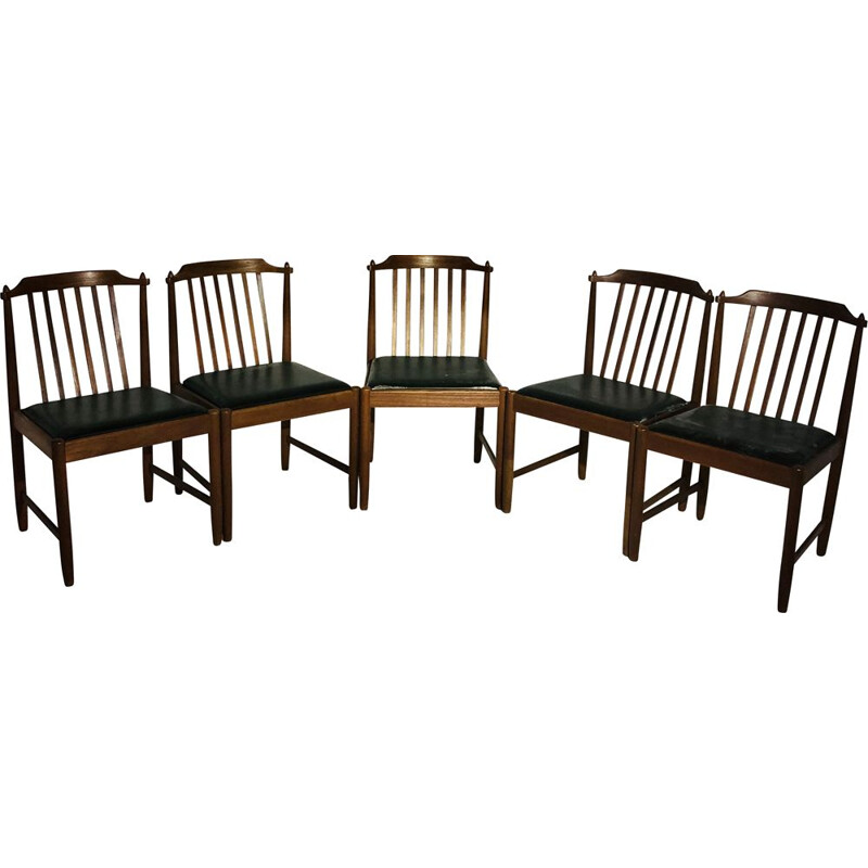 Set of 5 vintage chairs Scandinavian