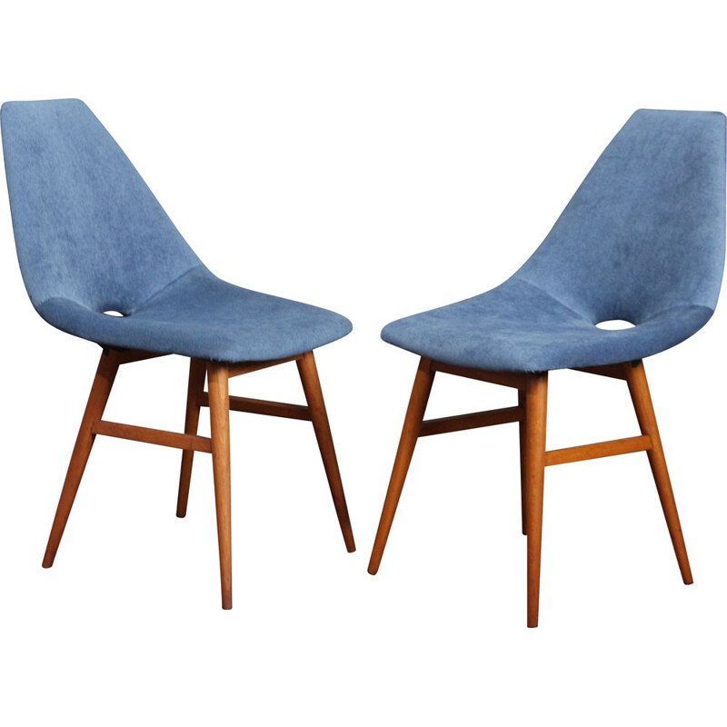 Pair of 'Erika' vintage dinning chairs, Hungary 1959