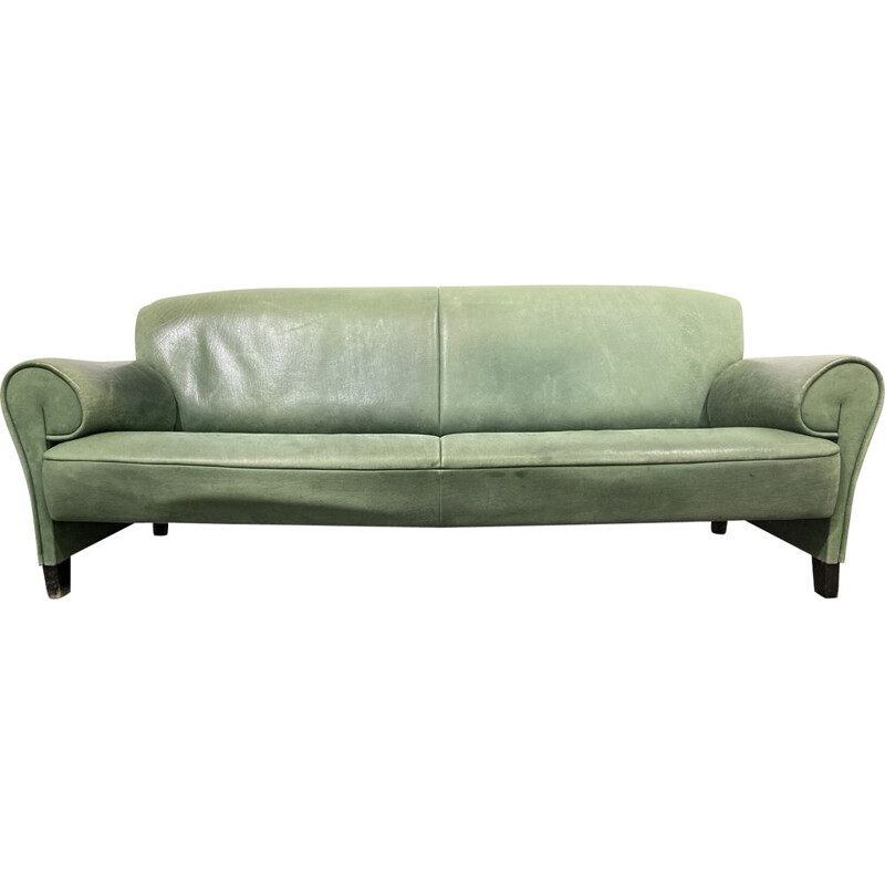Vintage Sofa DS-90, green Leather, by Anita Schmidt for De Sede, Switzerland, 1992