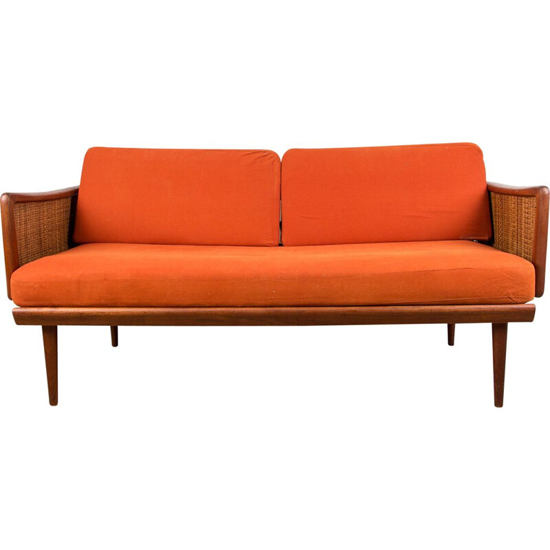 Vintage Daybed Sofa in Teak and Cannage model FD 451 by Peter Hvidt and Orla Molgaard-Nielsen from Denmark 1960