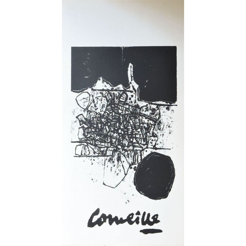 Vintage Affiche lithographie by Guillaume Corneille, 1960