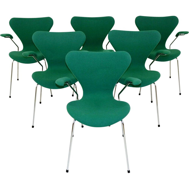 Set of 6 armchairs by Arne Jacobsen 1960