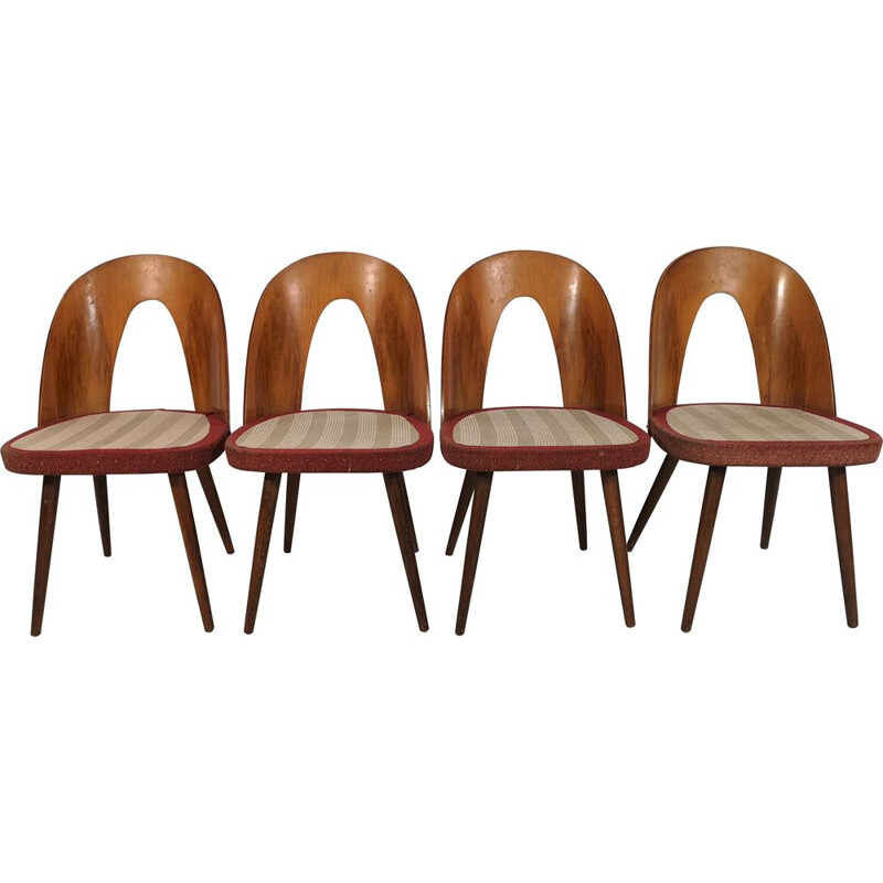 Set of 4 vintage Dining Chairs by Antonín Šuman, 1960s