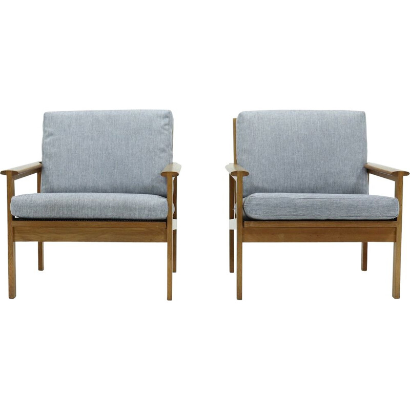 Pair of vintage Capella Chairs by Illum Wikkelso for N. Eilersen, 1960s