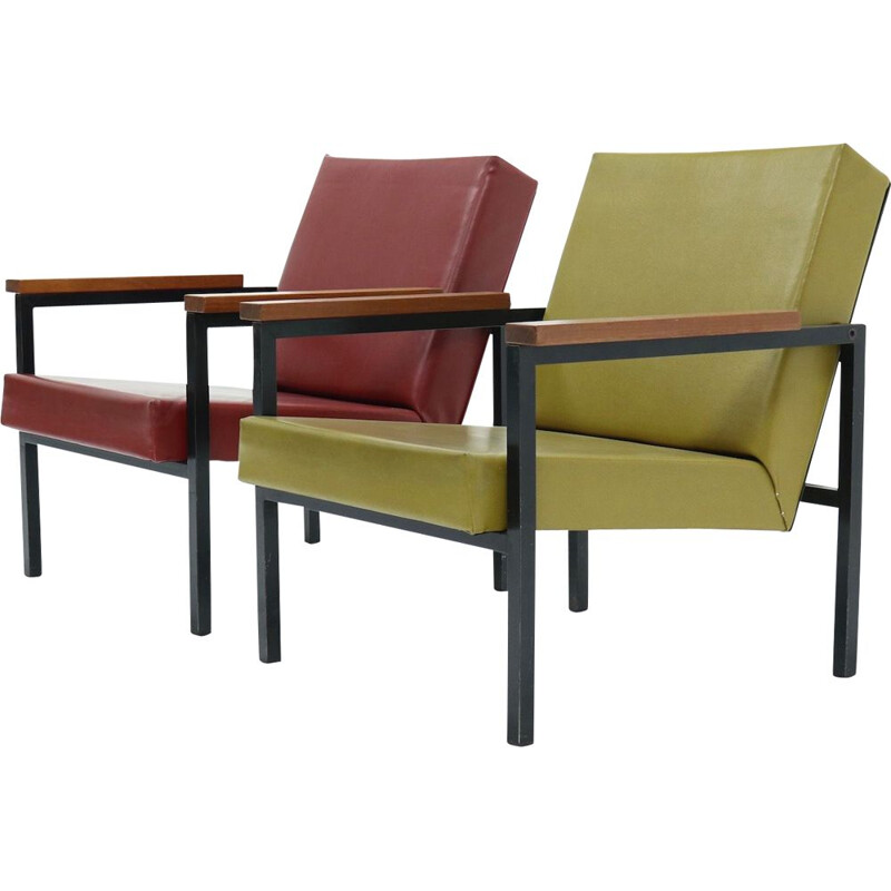 Pair of vintage SZ30 Armchairs by Hein Stolle for 't Spectrum, 1960s